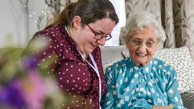 Home carer growing after carer training