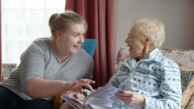 home carer and client