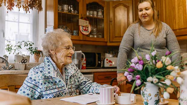 Client with home carer