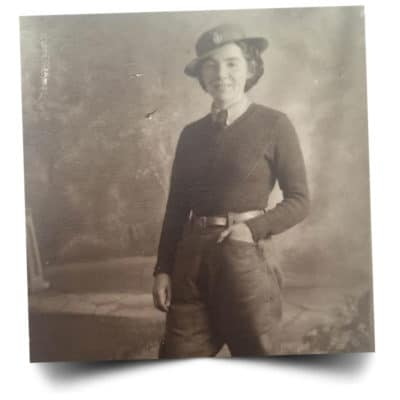 Joyce serving in the womans Army