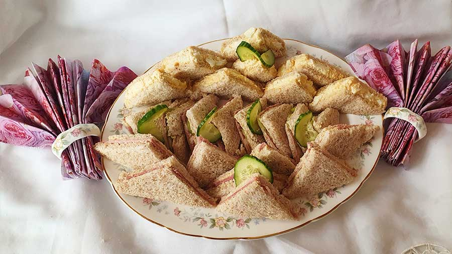 Sandhwiches for afternoon tea
